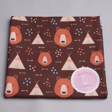 Бавовна ведмеді на коричневому