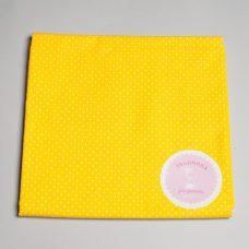 Бавовна дрібний горох на жовтому З БРАКОМ