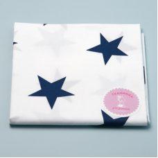 Бавовна великі сині зірки на білому