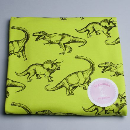 Стрейч-кулір динозаври на лимонному