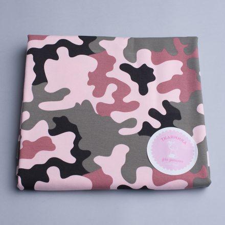 Утеплений футер камуфляж рожевий (240 Г/М)