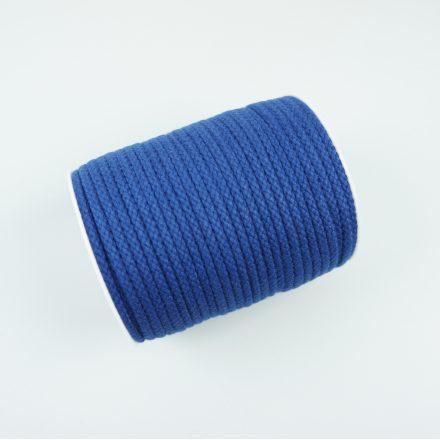 Шнур для одягу синій (6 мм) бавовняний круглий