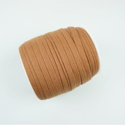 Шнур для одягу карамельний (10 мм) бавовняний плаский