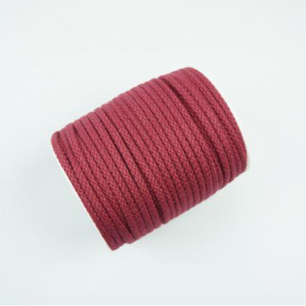 Шнур для одягу бордо (6 мм) бавовняний круглий