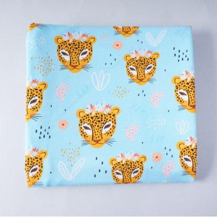 Футер леопарди на блакитному (цифровий друк)