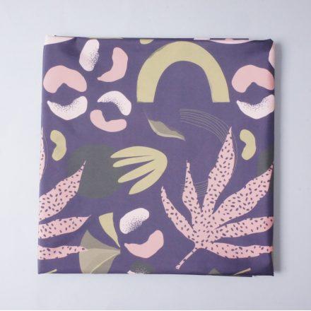 Канада рослини з фігурками на фіолетовому (плащівка)