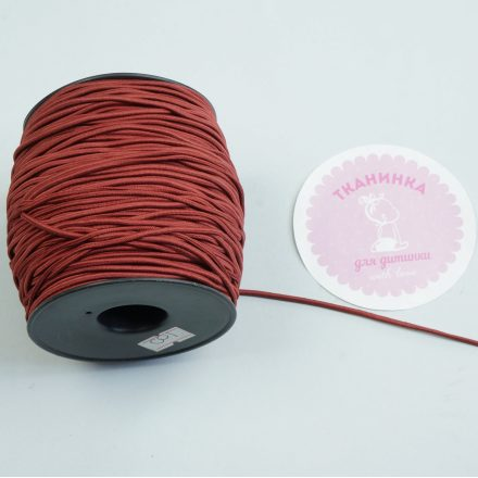Резинка капелюшна бургунді (2 мм)