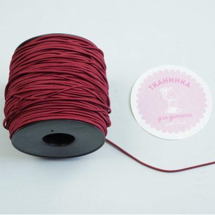 Резинка капелюшна бордо (2 мм)