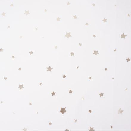 Плащівка золотисті зірки на молочному №2