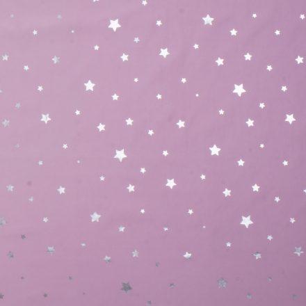 Плащівка сріблясті зірки на рожевому №2