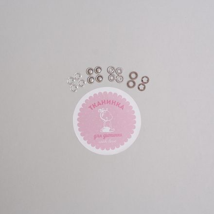 Кнопка коричнева матова 9,5 мм (набір - 10шт х 4) №2