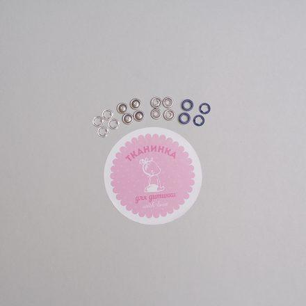 Кнопка темно-синя №2 матова 9,5 мм (набір - 10шт х 4)