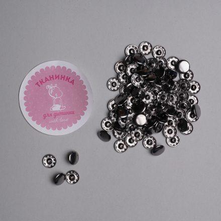 Кнопка блек нікель 10 мм