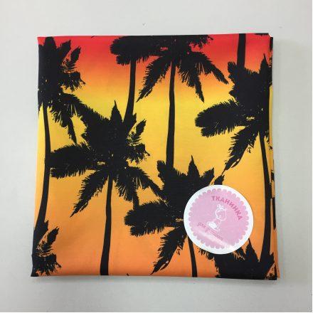 Тканина для шортів пальми на заході сонця