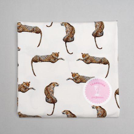 Стрейч-кулір леопард на молочному (цифровий друк)