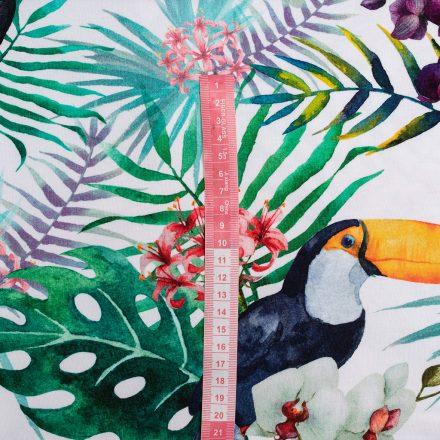 Стрейч-кулір тукани в квітах (цифровий друк)