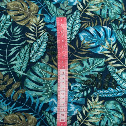 Стрейч-кулір листя на синьому (цифровий друк)