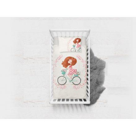 Панель дівчина на велосипеді 43х33