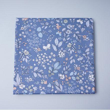 Сатин рослини на синьому