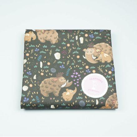 Водовідштовхуюча тканина мамонти на коричневому