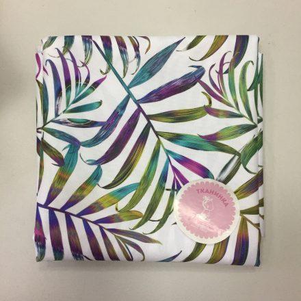 Водовідштовхуюча тканина кольорове листя на білому